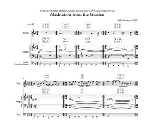 Meditation from the Garden - Hovatter(score)