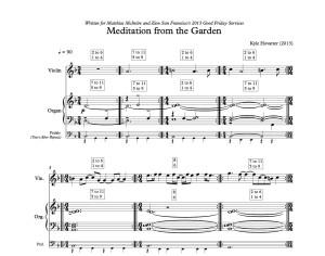 Meditation from the Garden - Hovatter(score)